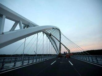 威海市首座大型景观工程桥梁即将通车