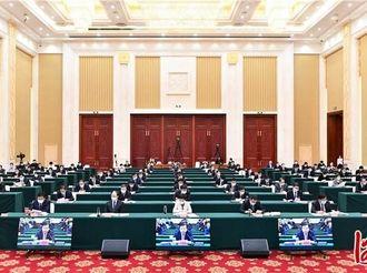 河北省党史学习教育推进会在石家庄召开